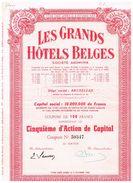 Action Ancienne - Les Grands Hôtels Belges - - Toerisme