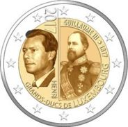 """Pièce Commémorative 2 Euro Luxembourg 2017 """"  Grand Duc Guillaume III """" - Luxembourg"""