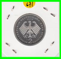 ALEMANIA -GERMANY - MONEDA DE  2.00 DM  AÑO 1979-J - KURT SCHUMACHER - S/C - [ 7] 1949-… : RFA - Rep. Fed. Alemana