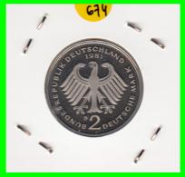 ALEMANIA -GERMANY - MONEDA DE  2.00 DM  AÑO 1981- D- KURT SCHUMACHER - S/C - [ 7] 1949-… : RFA - Rep. Fed. Alemana