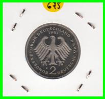 ALEMANIA -GERMANY - MONEDA DE  2.00 DM  AÑO 1981- F- KURT SCHUMACHER - S/C - [ 7] 1949-… : RFA - Rep. Fed. Alemana