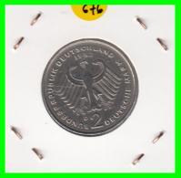 ALEMANIA -GERMANY - MONEDA DE  2.00 DM  AÑO 1982- D - KURT SCHUMACHER - [ 7] 1949-… : RFA - Rep. Fed. Alemana