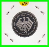 ALEMANIA -GERMANY - MONEDA DE  2.00 DM  AÑO 1982- G - KURT SCHUMACHER  S/C - [ 7] 1949-… : RFA - Rep. Fed. Alemana