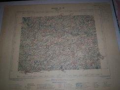 CARTE GEOGRAPHIQUE  G - Format  45 X 71 De FINISTERE_MORBIHAN_Feuille_ CHATEAULIN_IV_ 16 ) En 1897 - Geographische Kaarten