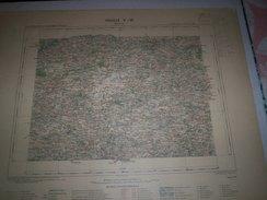 CARTE GEOGRAPHIQUE  G - Format  45 X 71 De COTE Du NORD_FINISTERE_MORBIHAN_Feuille_ GOURIN_V_ 16 ) En 1897 - Geographische Kaarten