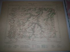 CARTE GEOGRAPHIQUE  G - Format  45 X 71 De EURE Et LOIR_LOIRET_SEINE Et OISE_Feuille_ ETAMPES_XVI_ 15 ) En 1885 - Carte Geographique