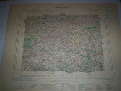 CARTE GEOGRAPHIQUE  G - Format  45 X 71 De EURE Et LOIR_LOIR Et CHER_SARTHE_Feuille_CHATEAUDUN_XIV_ 16 ) En 1899 - Geographische Kaarten