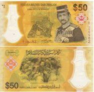 "BRUNEI   ""Just Issued""  50 Ringgit  ""Commemorative Issue 50th Anniversary""   2017    Pnew   UNC - Brunei"