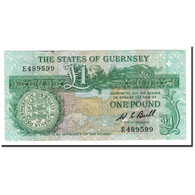 Guernsey, 1 Pound, 1980-1989, KM:48a, TTB - Guernesey