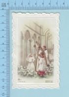 Image Pieuse  Dentelle - La Confirmation  D'une Fillette Shawinigan Quebec 1964 - Devotion Images