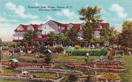 New York Roscoe Tenannah Lake House and Gardens Curteich
