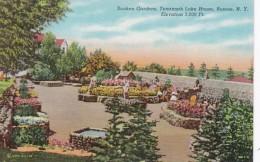 New York Roscoe Tenannah Lake House Sunken Gardens Curteich