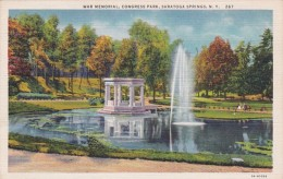 New York Saratoga Springs War Memorial Congress Park Curteich