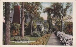 New York Saratoga Springs Walk In Chauncey Olcott's Gardens Curt