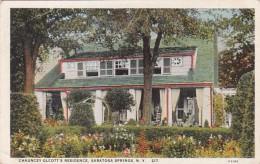 New York Saratoga Springs Chauncey Olcott's Residence Curteich