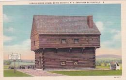 New York Saratoga Springs Period Blockhouse At Saratoga Battlefi