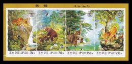 North Korea 2003 Mih. 4663/66 (Bl.553) Fauna. Mammals MNH ** - Korea, North