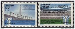 URUGUAY  PA  ( 2 Valeurs  )   * *    Cup 1978  Football Soccer Fussball - 1978 – Argentine