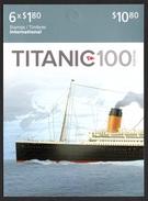 CANADA 2012 Centenary For Sinking Of RMS Titanic CAD1.80: Stamp Booklet UM/MNH - Cuadernillos Completos/libretas Completas