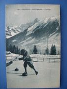 Chamonix. Curling. Carte éditée Par Monnier à Chamonix, Vers 1920, état SUP. - Chamonix-Mont-Blanc