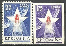 RUMANIA 1963 Mi:RO 2143/44, Yt:RO PA173/4 ** Mnh - Aéreo