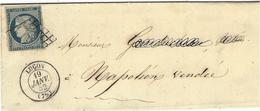 1852- Lettre De Luçon ( Vendée )  Cad T15 Affr. N°4 ( 4 Marges )  Pour Napoléon Vendée - Postmark Collection (Covers)