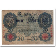 Allemagne, 20 Mark, 1910, KM:40a, 1910-04-21, TB - [ 2] 1871-1918 : German Empire