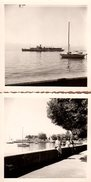 2 Photos Originales Suisse, Le Bateau De Tourisme De Ouchy En Août 1962 - Ouchy, Ses Quais & Le Lac Léman - Barcos
