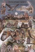Czech Republic 2015 Wild Animals Nature Protection Reserve Bird Bird Snowy Tawny Boreal Owl Owls Stamps MNH Mi BL58 - Owls