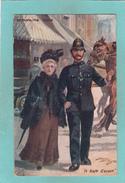 Old Tuck`s Oilette Postcard Of A Safe Escort,Metropolitan Police,London.V40. - London