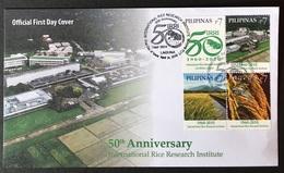 FDC Philippines 2010 - IRRI 50th Year, Rice - Plants
