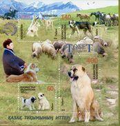 Kazakhstan 2016 Animals Dogs Animal Dog Nature Tobet Kazakh Mountain Sheep Horses Farm Fauna S/S Stamps MNH - Farm