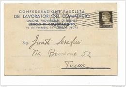 CONFEDERAZIONE FASCISTA DEI LAVORATORI UNIONE PROVINCIALE DI FIRENZE - Historical Documents