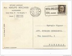 STUDIO LEGALE BOCCASSI ALESSANDRIA 1934 - Documents Historiques