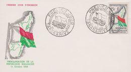 FDC - REPUBLIQUE MALGACHE - 1959 - Proclamation De La République Malgache - Madagaskar (1889-1960)