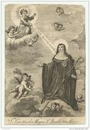 S.GERTRUDE MAGNA  INCISIONE CM.15X10 - Devotion Images