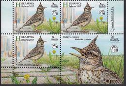Belarus 2017 Block Weissrussland Crested Lark Bird Of The Year Birds Animals Animal Nature Protection Stamps MNH Mi 1186 - Belarus