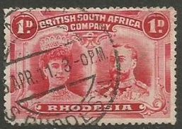 Rhodesia - 1910 King George V & Queen Mary 1d Used    SG 123  Sc 102b - Great Britain (former Colonies & Protectorates)