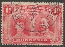 Rhodesia - 1910 King George V & Queen Mary 1d Used    SG 125  Sc 102 - Great Britain (former Colonies & Protectorates)