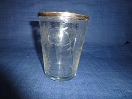 Vase En Verre Gravé Et Métal Argenté - Glass & Crystal