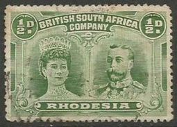 Rhodesia - 1910 King George V & Queen Mary 1/2d Yellow-green Used    SG 119  Sc 101 - Great Britain (former Colonies & Protectorates)