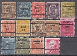 USA Precancel Vorausentwertungen Preo, Bureau New York, Albany 14 Diff. Bureaus - United States