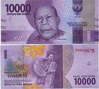 INDONESIA       10,000 Rupiah      P-New       2016/2017   UNC  [ 10000 ] - Indonesia