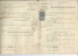 DOCUMENT Direction Generale Des Finances TUNIS// COMMISSION Avec TIMBRE FISCAL DIMENSION PROTECTORAT Francais 1919 N8 - Decrees & Laws