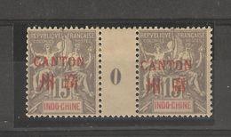 Indo-chine_Millésimes 15c Surch.Canton En Rouge 1900 N°8 - Ohne Zuordnung