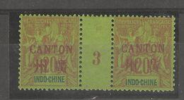 Indo-chine_Millésimes 20c Surch.Canton En Rouge 1893  N°9 - Ohne Zuordnung