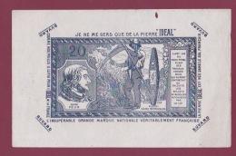 021217 A - BUVARD Pierre à Aiguiser IDEAL Présentation Sous Forme De Billet De Banque Scène Agricole Fauchage - Blotters