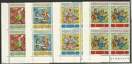 1990 San Marino Saint Marin PINOCCHIO 4 Serie Di 4v. MNH** Quartina Angolare Bl.4 - Fiabe, Racconti Popolari & Leggende