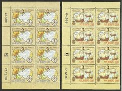 1991 San Marino Saint Marin CRISTOFORO COLOMBO 8 Serie Di 2v. MNH** In Blocco - Christopher Columbus