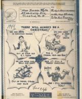 V Mail Illustré -Vœux De Noël 1944 - Via San Francisco - Navidad